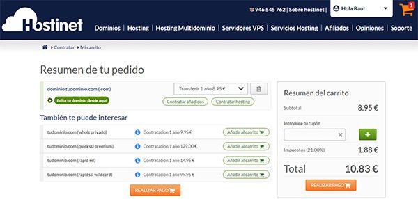 Transferir Dominio .COM Realizar Pago