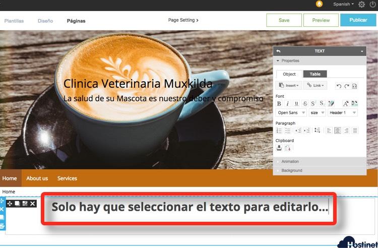 Crear la Web con WebFácil (RvSiteBuilder)