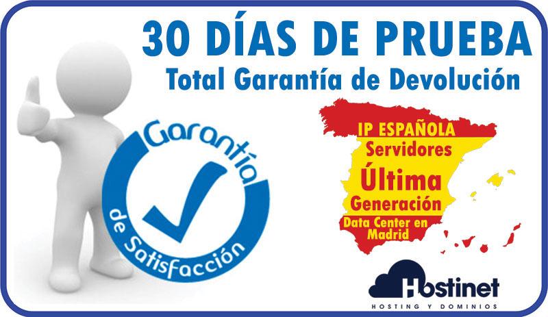 Prueba 30 Días - Garantía Devolución IP ESPAÑOLA