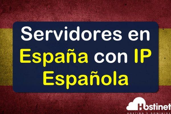 Servidores en España con IP Española en Hostinet