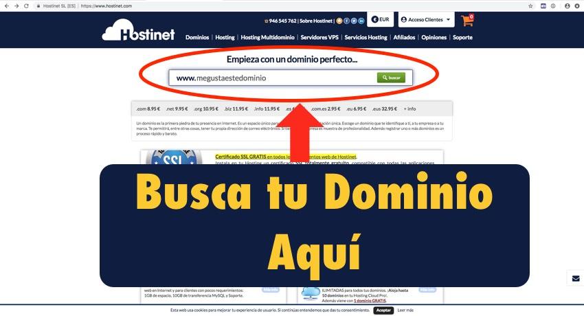 web principal hostinet.com