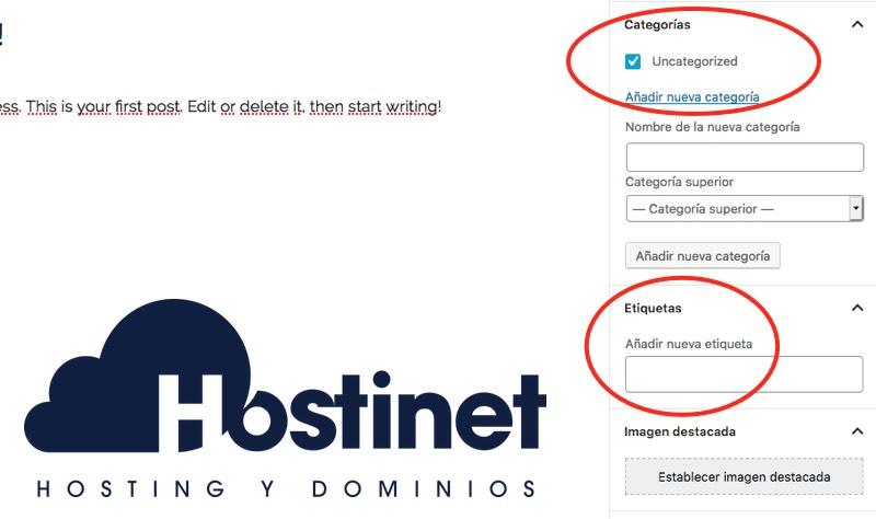 categorias etiquetas blog wordpress - Hostinet