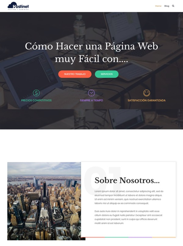 pagina web facil profesional con elementor y wordpress