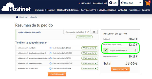 Contratar SSD3 Primavera2019 Descuento