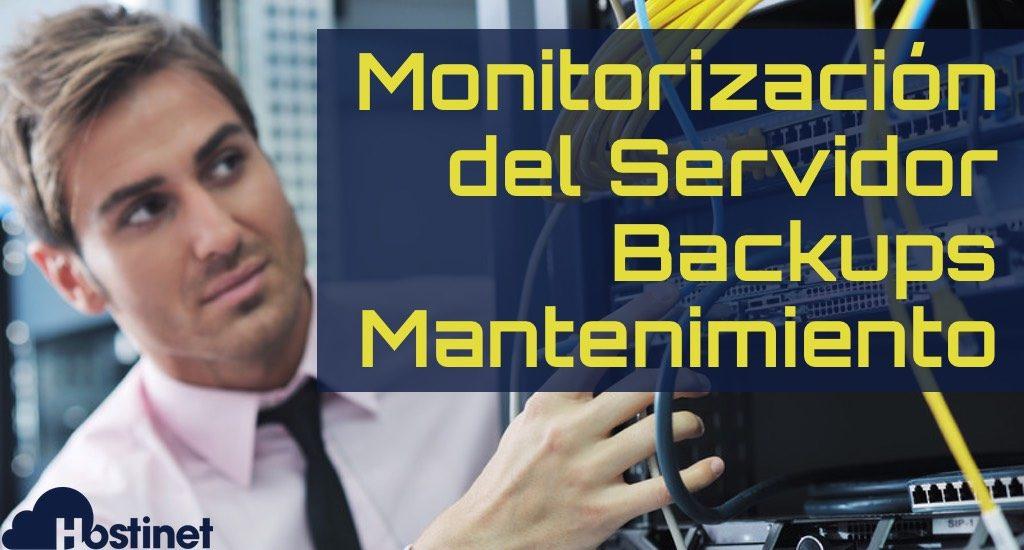 monitorizacion servidor administrado en Hostinet
