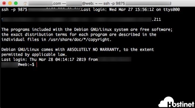 terminal servidor no administrado en Hostinet